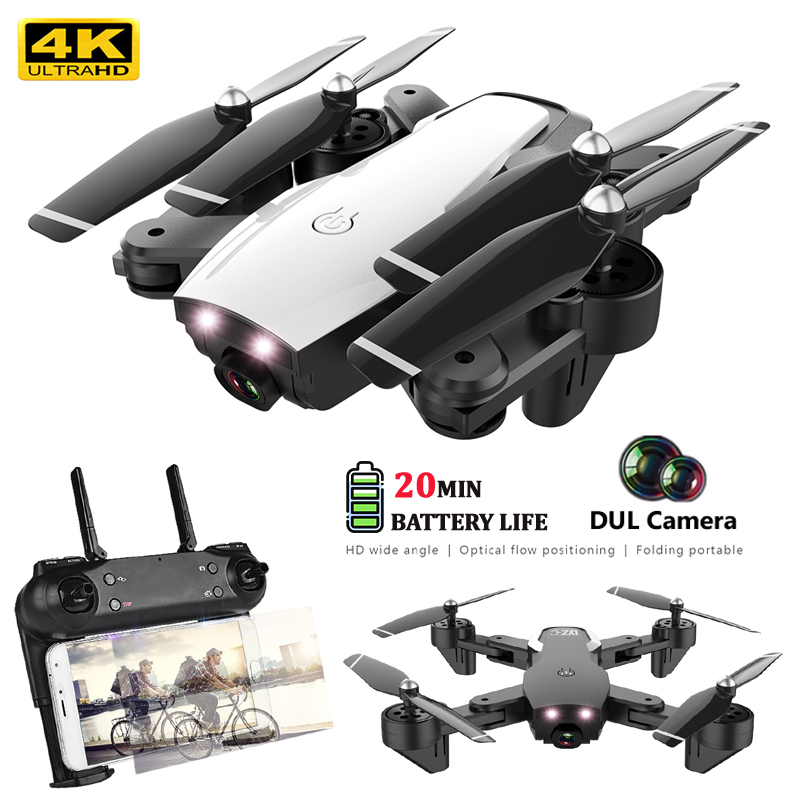 4K Drones With Camera HD Wide-Angle Dual Camera Dron FPV WIFI 2.4G Altitude Hold Follow Me Foldable Rc Quadrocopter with camera