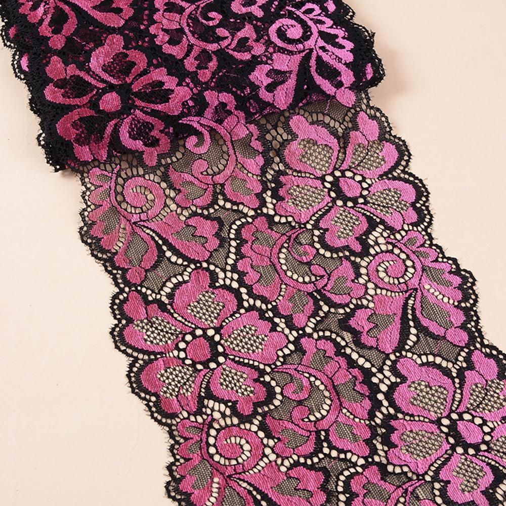 Wholesale Lot 1 Yard 18cm Wide 8 Colors Delicate Elastic Spandex Flower Floral lace trim DIY sewing Wedding Lace 767 in Lace from Home Garden