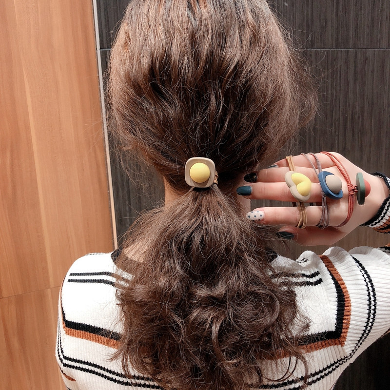 Frosted Heat Hair Band For Women 2020 High Elastic Hair Bands Girl Cute Hair Ties