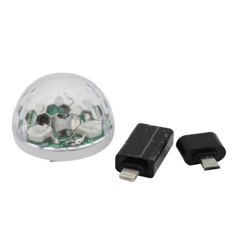 For Mobile Phone Mini USB Disco Light LED Party Lights Crystal Magic Ball Colorful Effect Stage Lamp For Home Party Karaoke