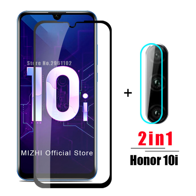 2in1 protective glass for huawei honor 10i tempered glas on huwei honer 10 i honor10i HRY