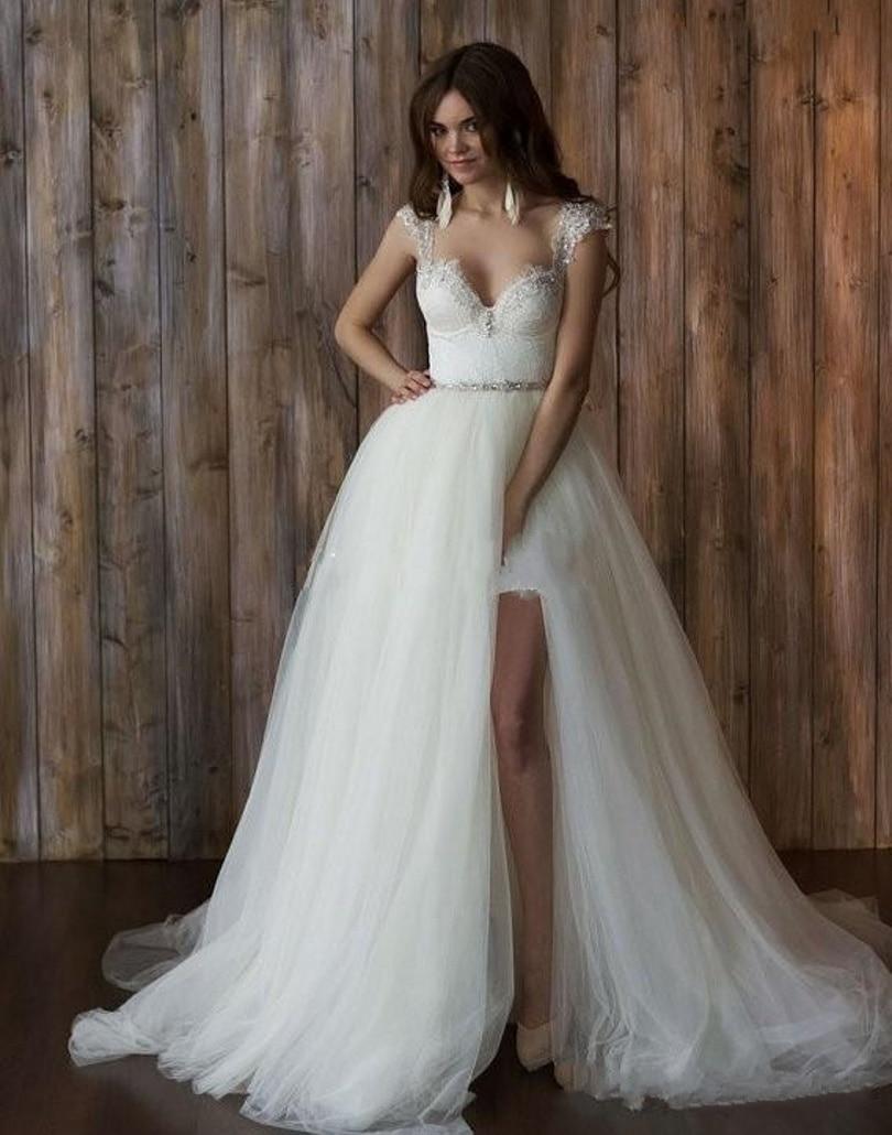 Bridal Gowns Sexy Vestido De Noiva Sweetheart Backless Lace Princess Vintage 2018 Detachable Train Mother Of The Bride Dresses