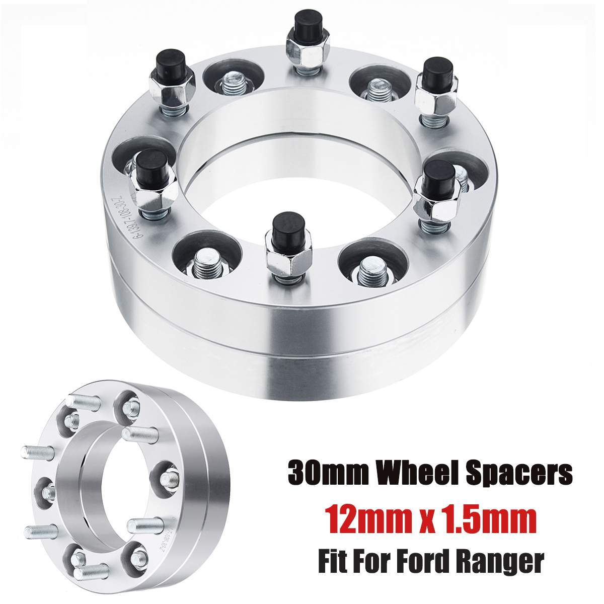 2 X 10mm ALLOY WHEEL SPACERS SHIMS SPACER UNIVERSAL FOR PEUGEOT 2 4X108 B