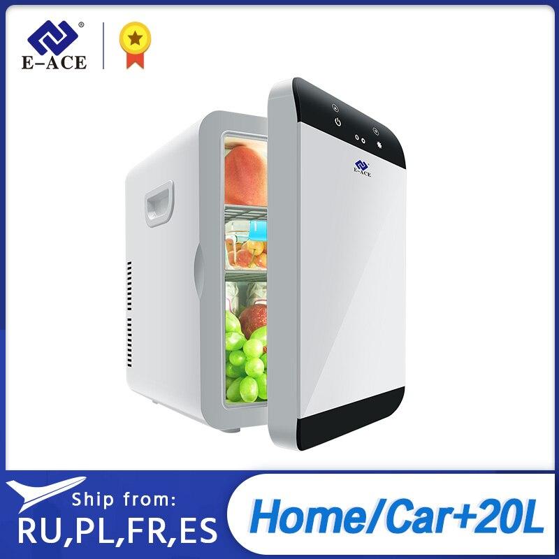 E-ACE M08 автомобильный холодильник с низким уровнем шума, портативный автоматический холодильник с морозильной камерой, охлаждающая коробка, ...
