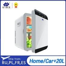 E-ACE m08 geladeira carro de baixo nível de ruído portátil auto geladeira freezer caixa refrigeração alimentos frutas armazenamento frigorífico para casa viagem acampamento
