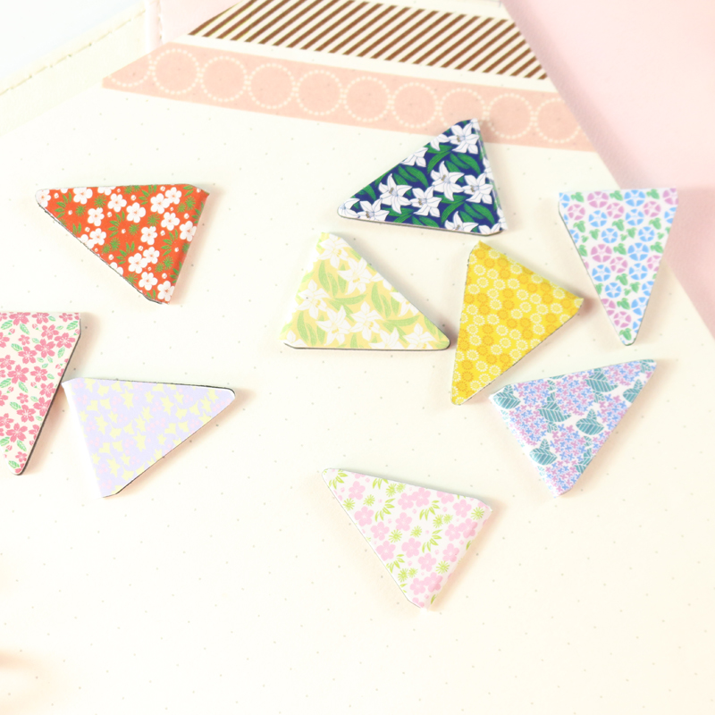 Domikee Cute New Kawaii Flower Design School Student Magnetic Bookmark Set Stationery,candy Index Bookmark For Children,6pcs