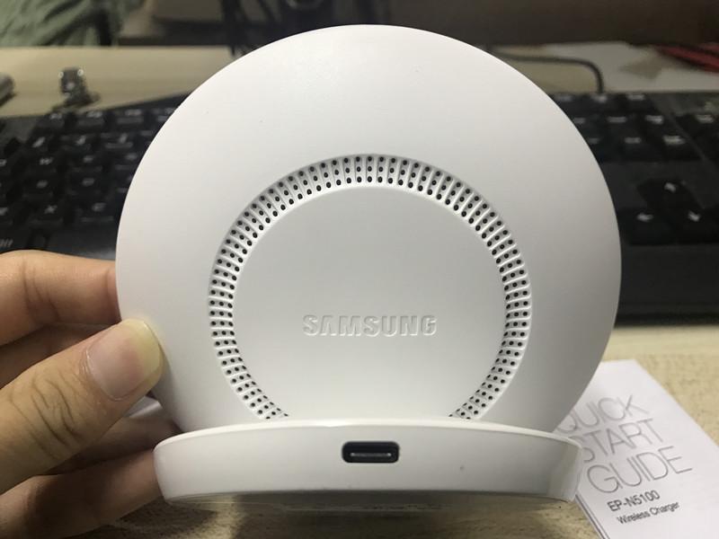Samsung rápido cargador inalámbrico Qi de carga rápida 21