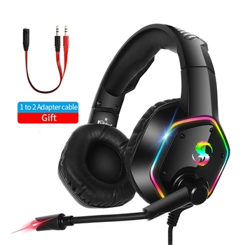 Upgrade RGB LED Wired Gamer Headset 7.1 Virtual Surround Sound Stereo Gaming Headphones with Mic Computer PC Headse for PS4 eksa gamer headset 7 1 surround sound gaming headphon e900 pro wired game headphones for pc xbox ps4 with noise cancelling mic