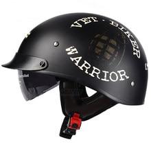 Black Vintage Motorcycle Helmet Open Face Helmet Half Helmet Retro Moto Casco Capacete Dot Approved Motociclistas Capacete Women