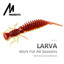 MEREDITH Larva Soft Lures 50mm 62mm 85mm Artificial Lures Fishing Worm Silicone Bass Pike Minnow Swimbait Jigging Plastic Baits cheap River Reservoir Pond stream Lake JXSC03 Artificial Bait 50mm(1 96 ) 62mm(2 44 ) 85mm(3 34 ) 0 9g(0 03oz) 1 7g(0 06oz) 4 5g(0 16oz)