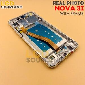 """Image 5 - 100% ORIGINAL6.3 """"LCD ekran için Huawei Nova 3/Nova 3i PAR LX1 INE LX2 LCD Ekran dokunmatik panel sayısallaştırıcı Meclisi + Çerçeve"""
