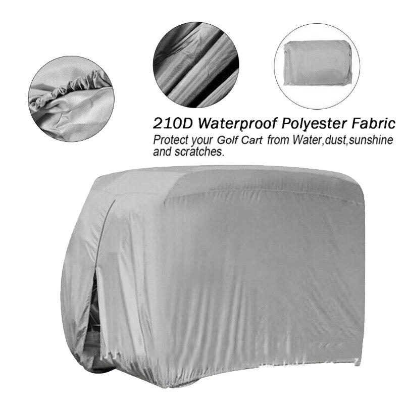 Golf Cart Sightseeing Cart Universal Waterproof Dust Cover for Yamaha EZ Go Club 242 x 122 x 168 cm