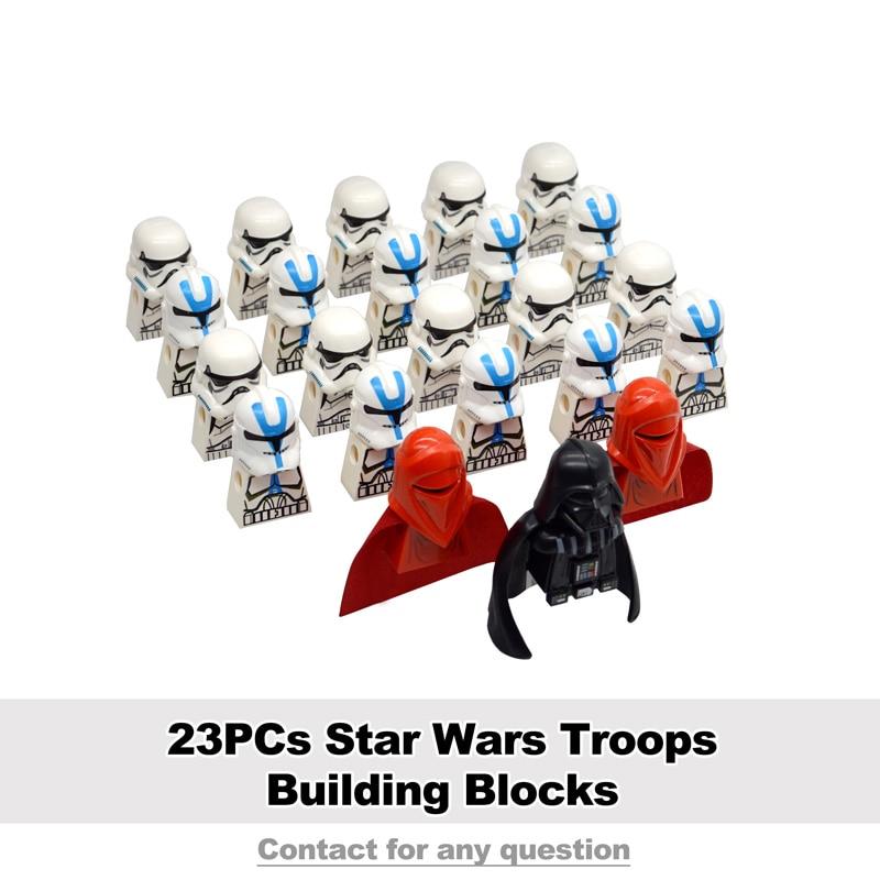 23PCs/set Star Wars Troopers Building Blocks Legion 41st Elite Corps Snowtrooper Bricks Construction Toys For Children