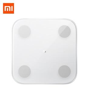 Image 1 - 2019 Xiao mi mi Skala 2 Smart Körper Fett Skala Gewicht Skala 2 Bluetooth 5,0 APP Monitor LED Display Digital körper Zusammensetzung Skala