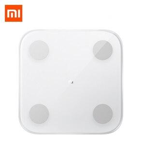 Image 1 - Xiaomi mi balança inteligente, balança de gordura corporal 2, bluetooth 2019, com display led, digital, para corpo, 5.0 balança de composição