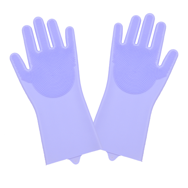 Dish Washing Cleaning Gloves With Cleaning Brush For Cleaning Dishes Kitchen And Housekeeping 10