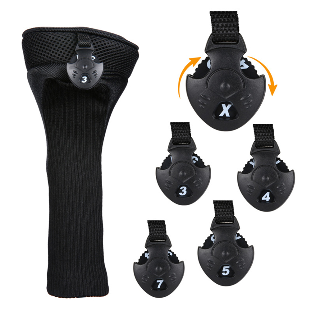 3pcs Club Head Cover Parts Soft Number Printed Travel Easy Use No.1 3 5 Protect Sleeve Golf Rod Simple Cap Tool Anti-scratch