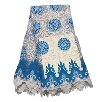 High Quality African Sequins Lace Fabric French STONES Net Embroidery Tulle Lace Fabric For Nigerian Wedding Party Dress
