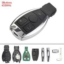 купить 433MHz 3 Buttons Keyless Uncut Flip Remote Key Fob for Mercedes Benz year 2000+ NEC&BGA Control New Listing по цене 1184.2 рублей