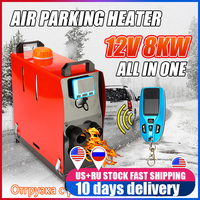 8000W All In One Air diesels Heater 12V Four Hole Car Heater For Trucks Motor Homes Boats Bus +LCD key Switch+English Remote