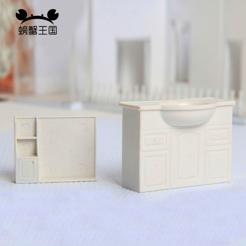 2 Set 1/20 1/25 1/30 Scale Wash Basin Sink Model Dollhouse Furniture Doll Accessories Sand Table Material