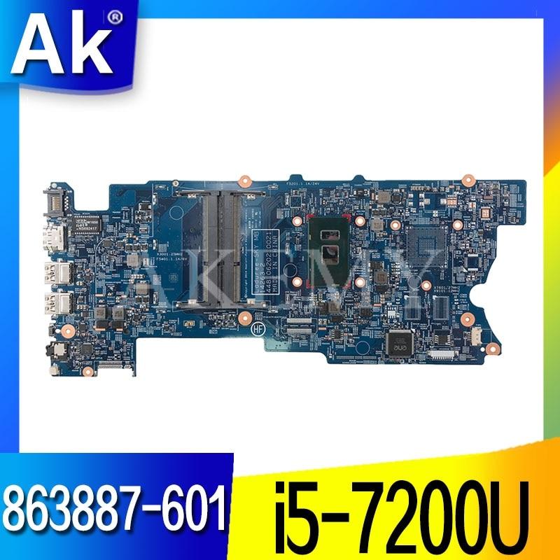 863887-601 863887-001 863887-501 для hp envy X360 15-BK 15-W 15T-W M6-W Материнская плата ноутбука 448.06202.0021 I5-7200U Процессор