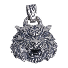 925 Sterling Silver High Details Tiger Pendant Mens Biker Punk Pendant 18 to 36 925 sterling silver skulls mens biker rocker punk necklace 8w004n