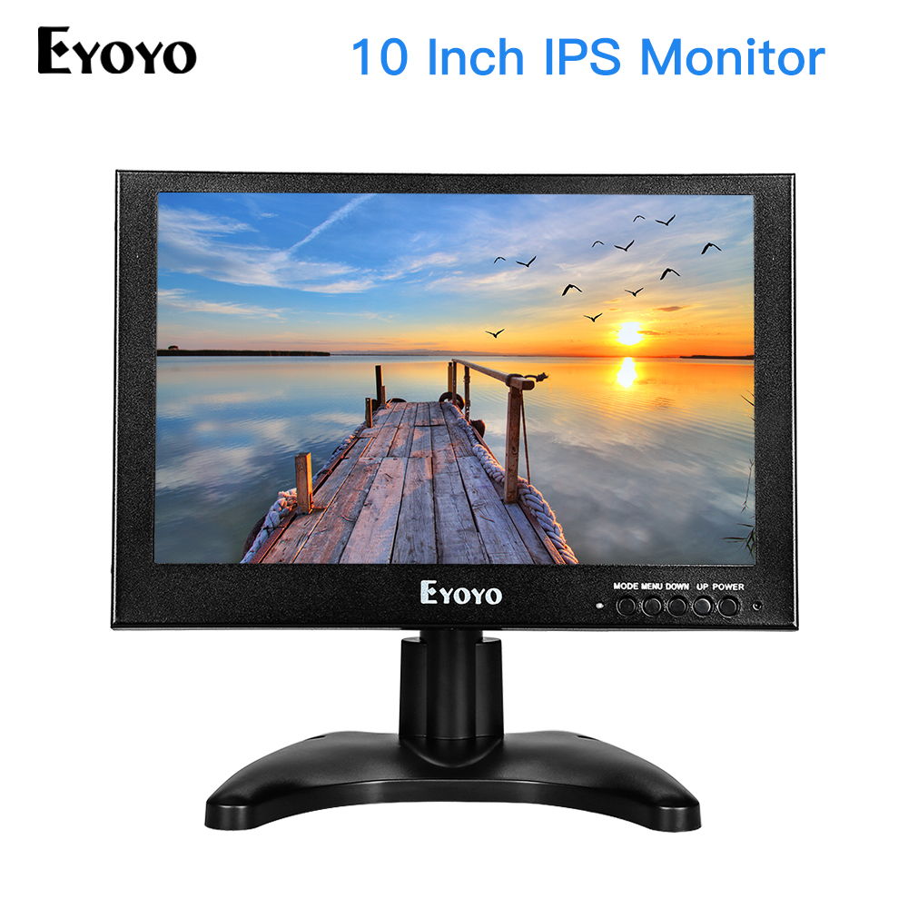EYOYO 10 TFT LCD IPS HD LCD Monitor 1280*800 VGA Video Audio HDMI Monitors for CCTV Security Surveillance Screen Display