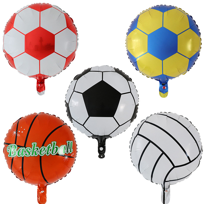 Soccer Balloons Aluminum Foil Balloon Mylar Balloons for Birthday Party
