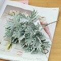 3 Teile/los strömten chrysantheme blatt kunststoff künstliche blumen landschaft hause hochzeit fotografie floral gefälschte pflanzen