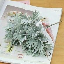 3 pçs/lote reuniram crisântemo folha de plástico flores artificiais paisagem casa fotografia casamento floral planta falsa