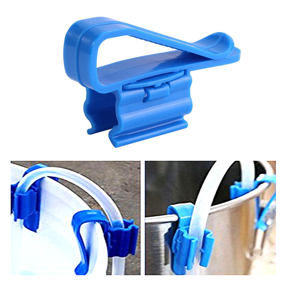 2PCS Home Brew Bucket Clip Pipe Syphon Tube Flow Control Wine Beer Clamp Fish Aquarium Filtration Water Pipe Filter Hose Holder