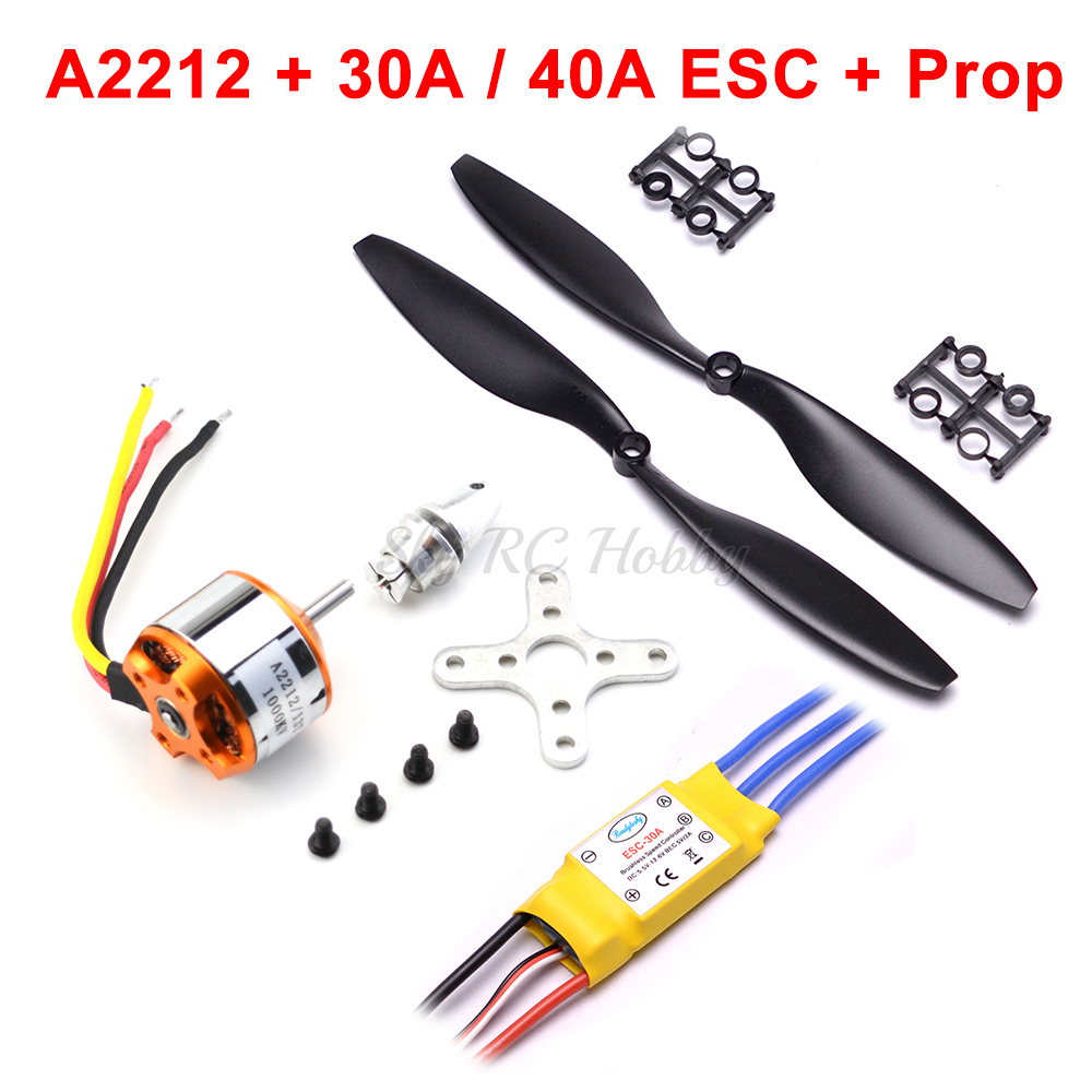 A2212 2212 1000KV 1400KV Brushless Outrunner Motor 30A / 40A Brushless ESC For DIY RC Aircraft Quadcopter Hexacopter Multirotor