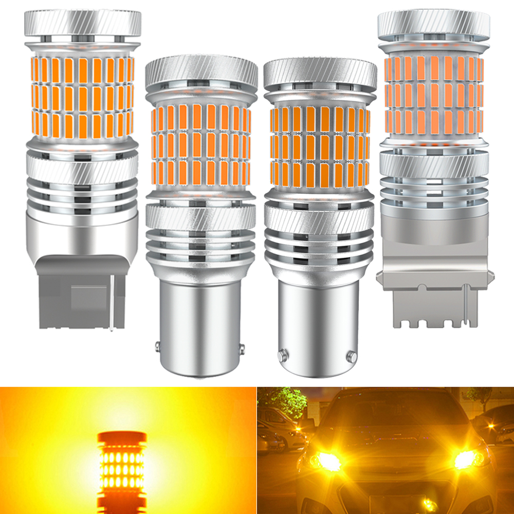 2x Canbus LED Turn Signal Light W21W T20 7440 Bulbs On Cars Accessories Automotive Goods For Mitsubishi Outlander Asx Pajero 2