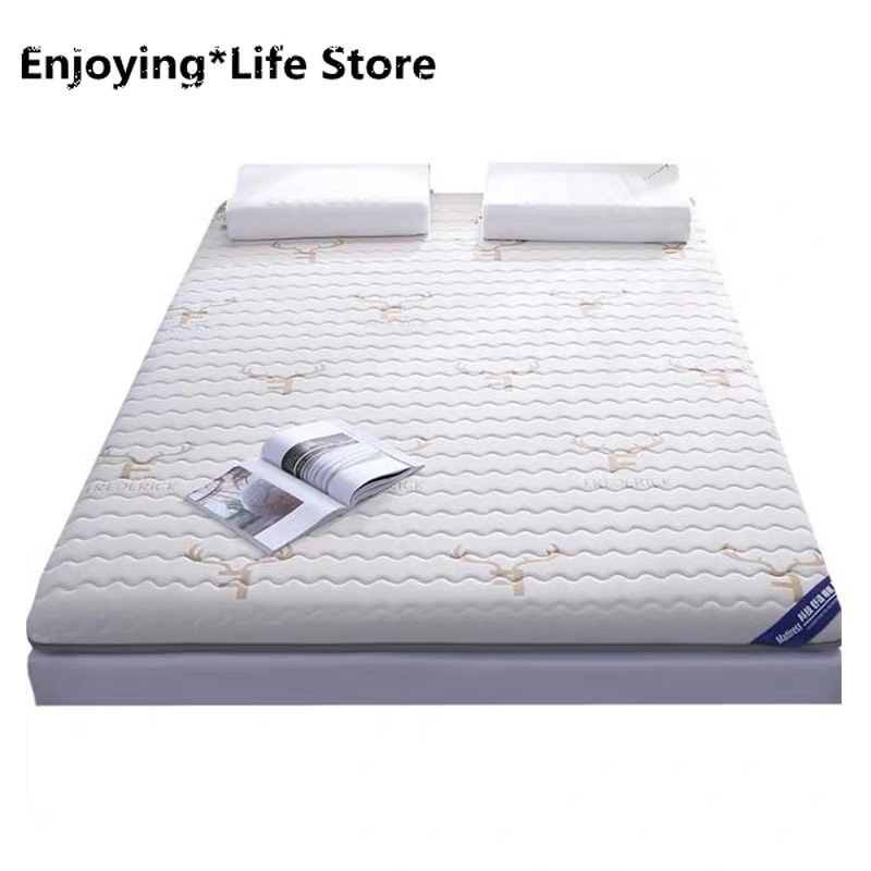 Breathable Latex Mattress 4D Foldable Bed Floor Tatami Thick 6cm Comfortable Soft Sponge Mattress Topper Twin Queen King Size