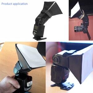Image 5 - พับเก็บได้Mini Soft Box Flash Diffuser Softbox + 12PcsสีBalance GelสำหรับCanon/Nikon/Sony/Yongnuo EOS Speedlightแฟลช