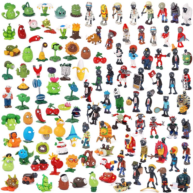 14 Styles Plants Vs Zombies PVC Action Figures PVZ Collection Figures Peashooter Hobby Collectible Model Dolls Set Party Gift