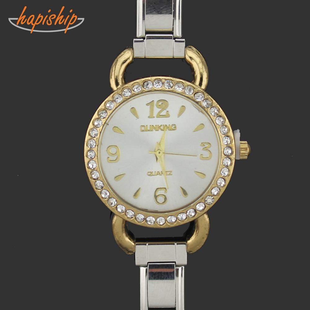 Hapiship 2019 Mannen Vrouwen Sieraden Rvs 9 Mm Breedte Gold Watch Armband Voor Vriend Vrouw Verjaardagscadeau g019