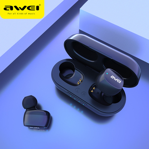 Image 5 - AWEI T13 T10C TWS Wireless Bluetooth Kopfhörer Kopfhörer Sport Headset Ohrhörer Mit Mikrofon HD Stereo Für Xiaomi