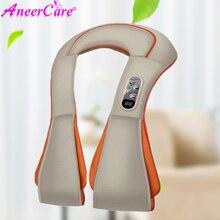 Shiatsu masajeador eléctrico para espalda, hombros, cuerpo, cuello, vibrador, para amasar la presión de los dedos, chal multifunción
