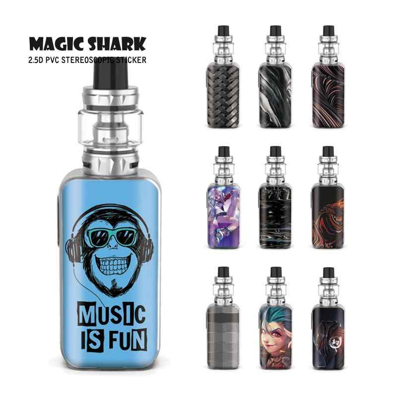 Magic Shark Jinx Weave, dibujo de piedra, Music is Fun LOL, carcasa con adhesivo estéreo de PVC, película trasera de piel para Vaporesso Luxe S
