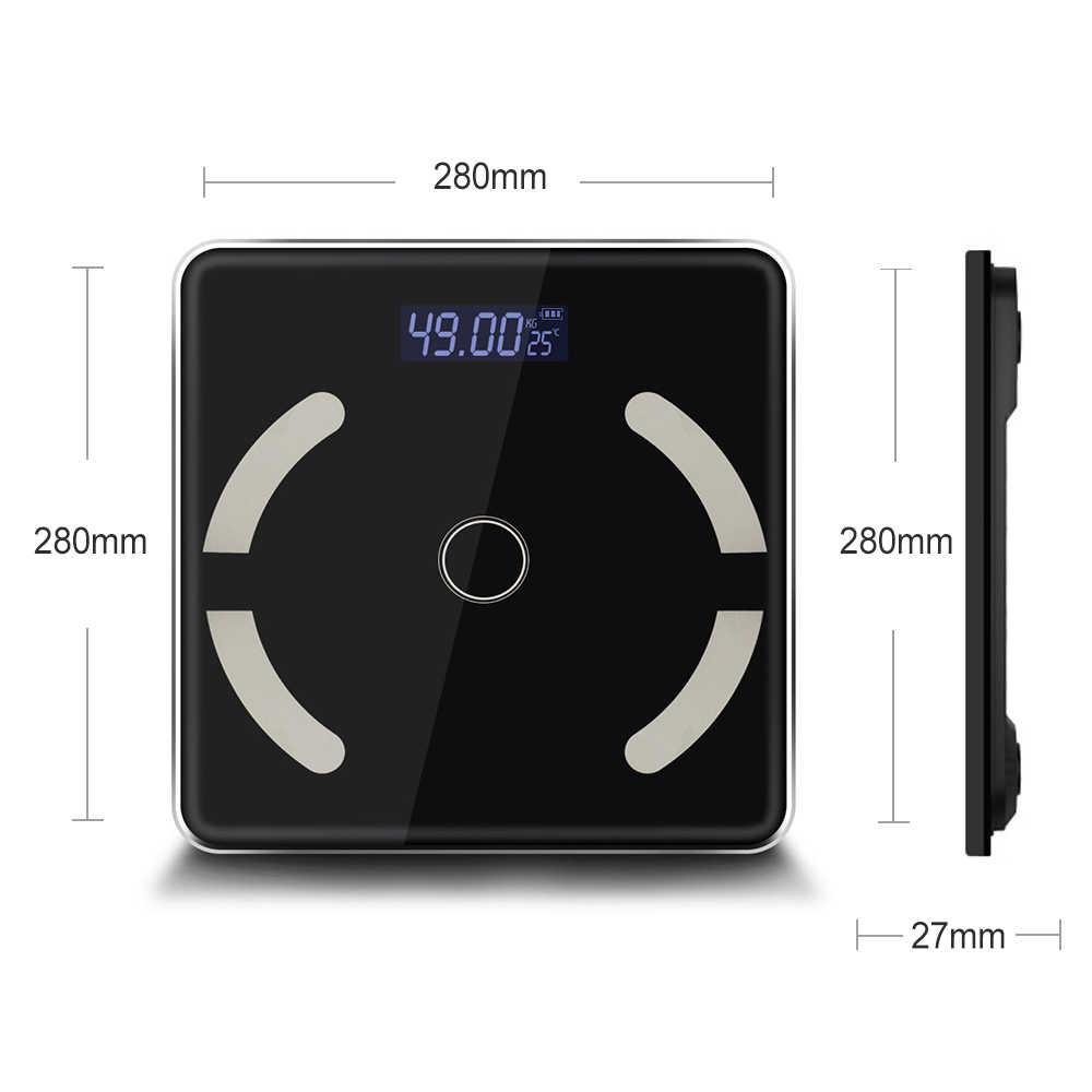 Kamar Mandi Skala Bluetooth Timbangan Lantai Elektronik Berat Timbangan Mengukur Smart Bluetooth SE47100