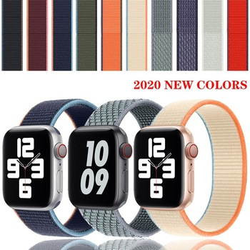 milanese loop strap for apple watch 4 5 band 44mm 40mm iwatch 3 2 band apple watch 42mm 38mm correa pulseira watch accessories Strap For Apple Watch band 42mm 38mm Nylon Loop bracelet iwatch band correa apple watch accessories serie 3 4 5 SE 6 40mm 44mm