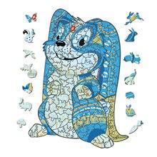 Original de madeira animal 3d puzzle decoração para casa interativo educação jogo brinquedos adultos crianças presentes 3d puzzle dropshipping