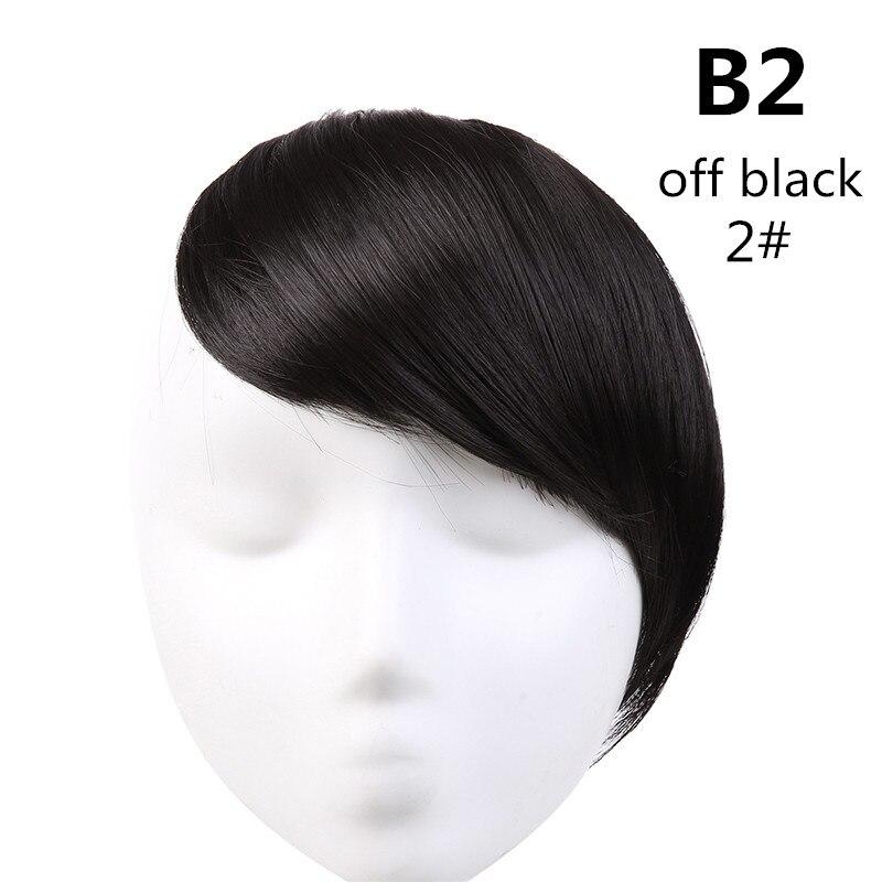 SARLA волосы челка клип в подметание боковая бахрома поддельные накладные взрыва натуральные синтетические волосы кусок волос черный коричневый B2 - Цвет: 2
