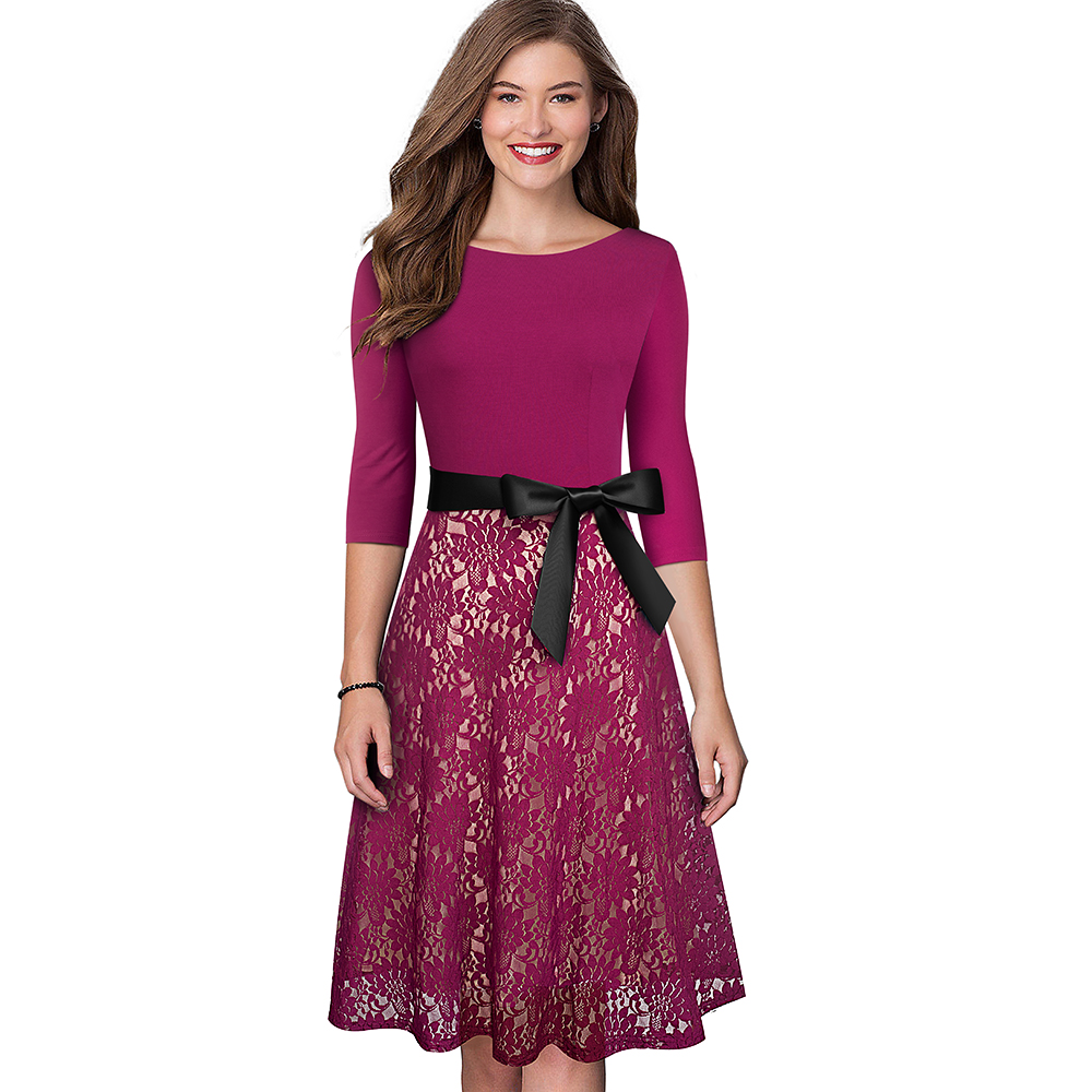 Dress Patchwork Business Nice-forever
