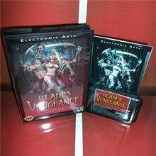 """להבים של נקמה ארה""""ב כיסוי עם תיבה ידנית עבור Sega Megadrive בראשית וידאו משחק קונסולת 16 קצת MD כרטיס"""