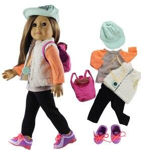 Image 2 - 1 conjunto boneca roupa para 18 polegada boneca americana muitos estilo para a escolha