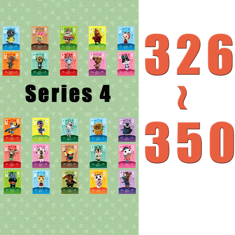(326 To 350) Animal Crossing Card Amiibo Printed NFC Card Compatible Pick From The List
