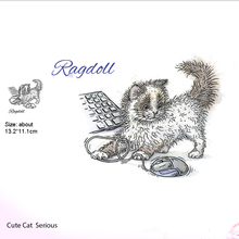 Cat keyboard stamp clear rubber construction transparent collage card embossing album process cut